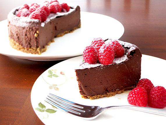 Gluten-Free, Soy-Free, Vegan Chocolate Cheesecake