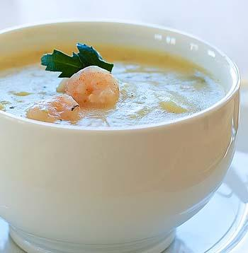 Cool and Creamy Shrimp Soup #RSC