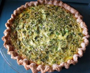 Green Pea and Feta Quiche