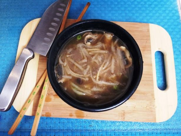 Thai Rice Noodle Miso Veg Soup