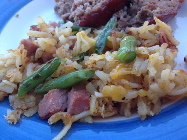 Ham & Veggie Skillet