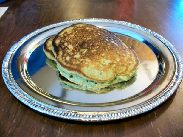 Green Oat Pancakes for St. Patrick's Day from More With Less Mom