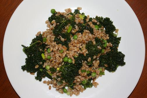 Farro Salad With Steamed Kale