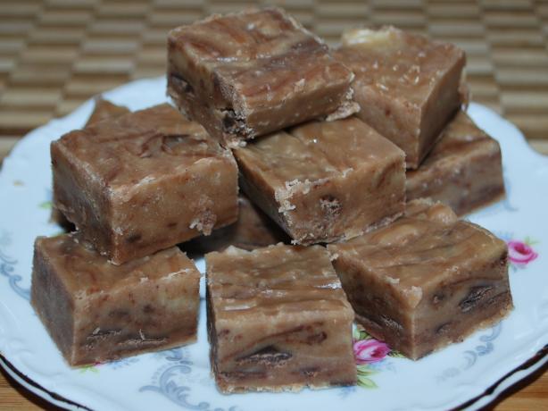 Simple Peanut Butter Chocolate Fudge