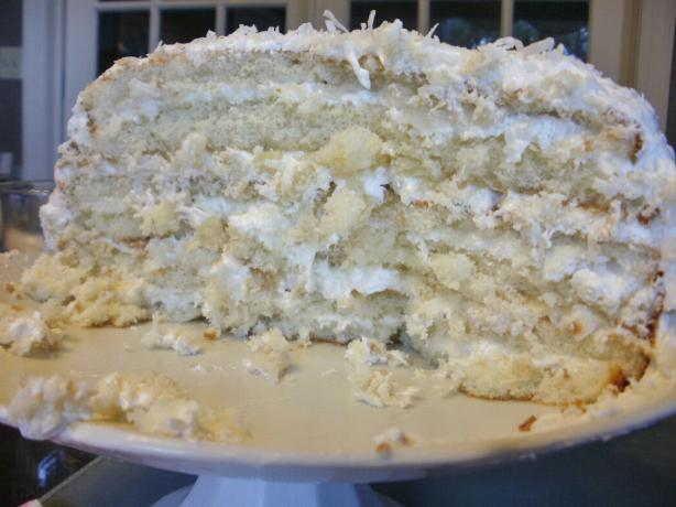The Cake Mix Doctor's Easy Refrigerator Coconut Cake