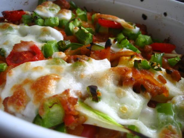 Zucchinin With Minced Meat in the Oven