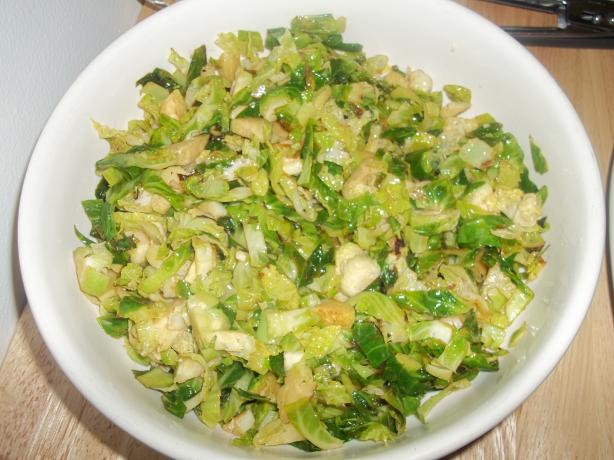 Shredded Brussels Sprouts With Lime