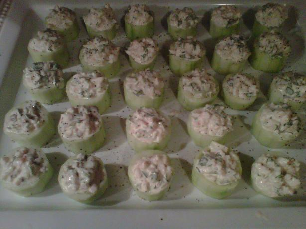 Creamy Cucumber Lobster Cups