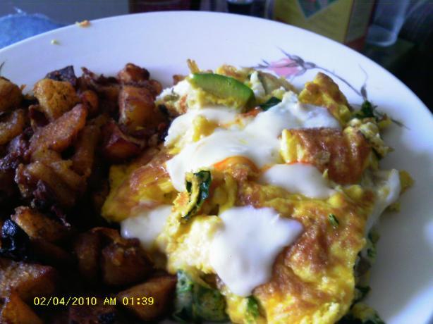 Muenster Spinach Omelet