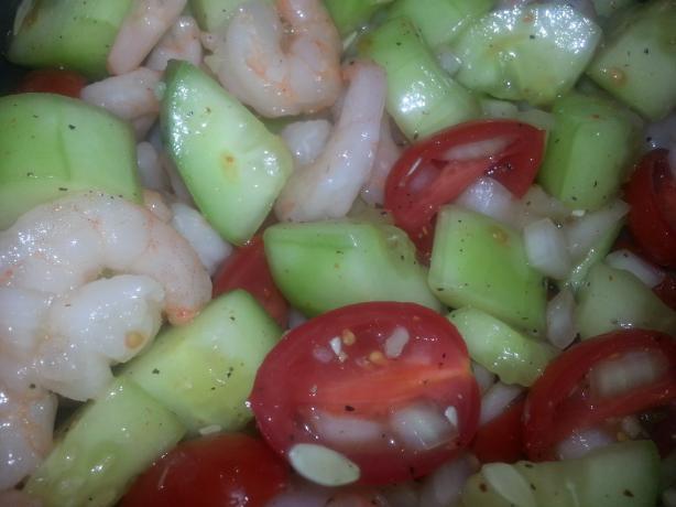 Spicey Cucumber Shrimp Salad