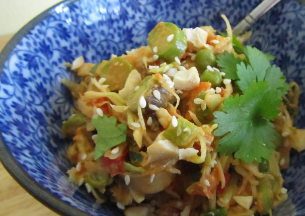 Shiver Me Timbers Thai Inspired Cole Slaw