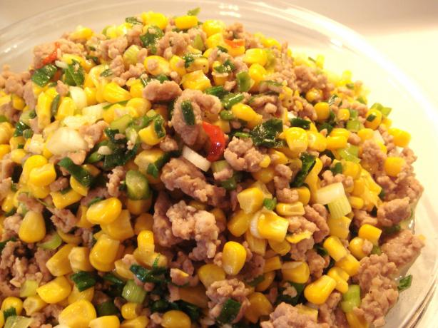 Stir-Fry Ground Pork With Corn