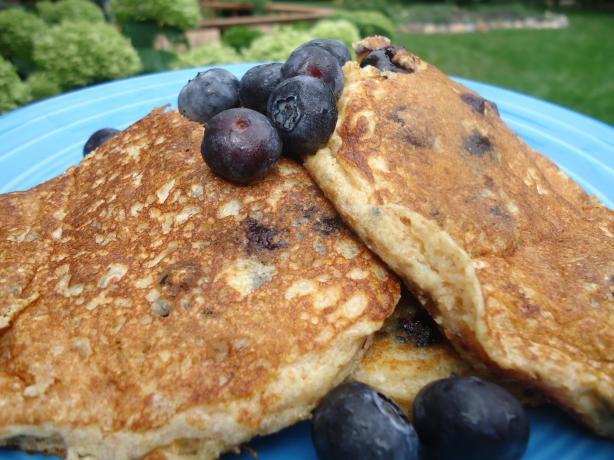 Blueberry Spelt Pancakes