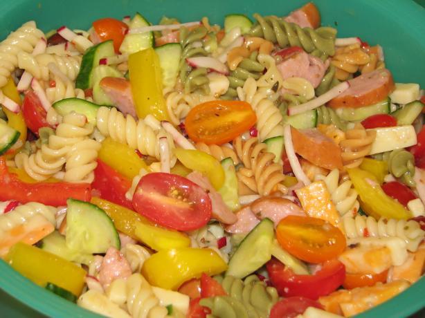 Mom's Keilbasa Pasta Salad