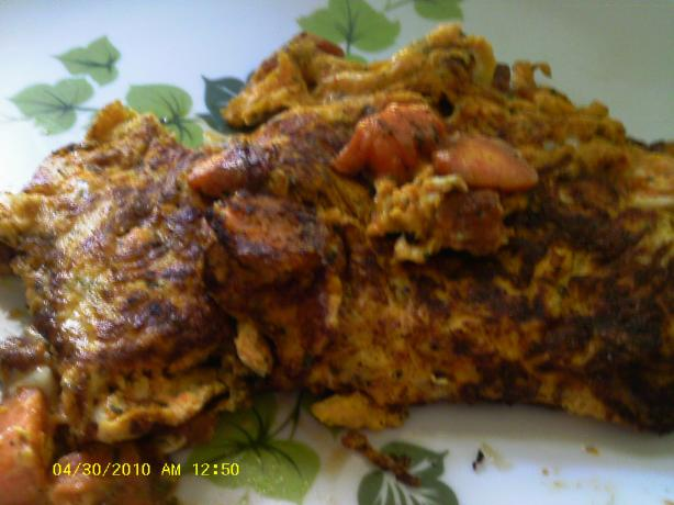Carrot and Parsley Omelet