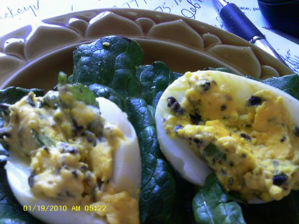 Greek Deviled Eggs With Ouzo