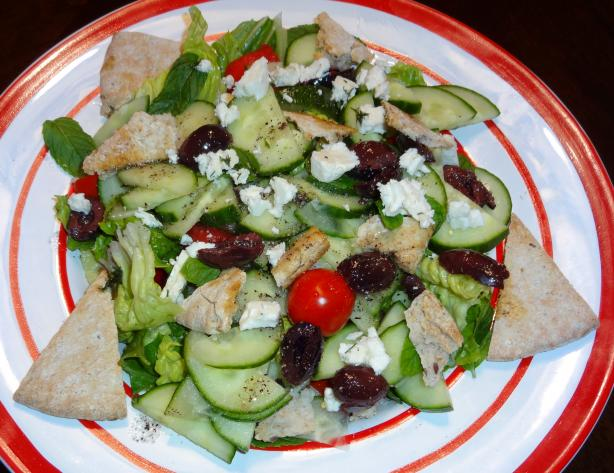 Greek Salad With Mint