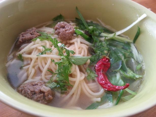 Quicker Pho With Meatballs - Vietnam