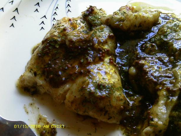 Mustard-Dill Catfish Fillets