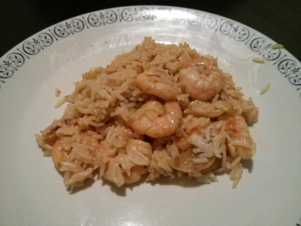 Cajun Shrimp Bogged Down in Rice