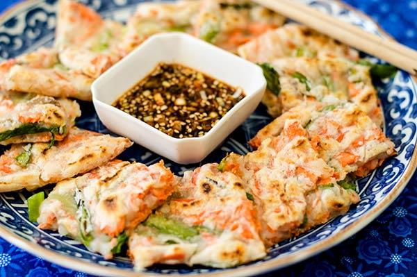 Gluten-Free Korean Salmon and Scallion Pancake (Pajeon)
