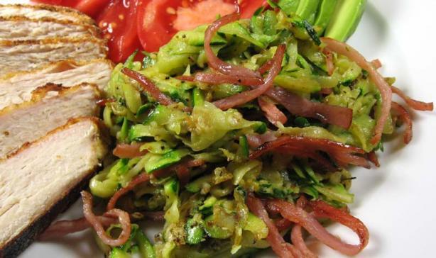 Zucchini Pancetta Saute