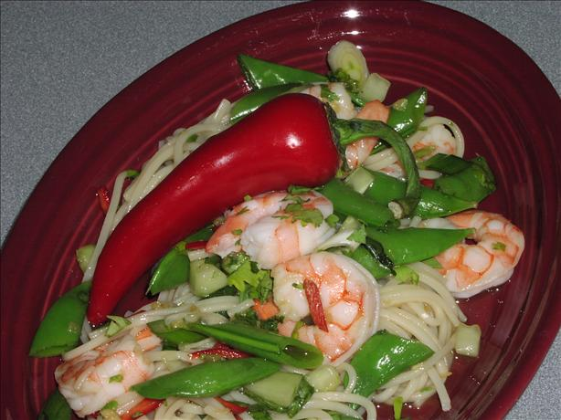 Thai Noodle Salad With Prawns