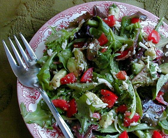 Green Salad With Mozzarella and Tomatoes