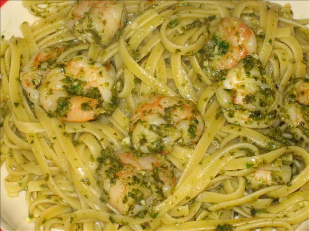 Shrimp Scampi Verde Pasta