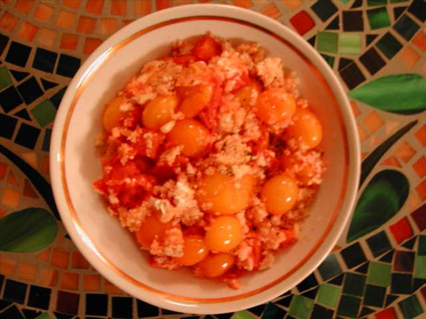 Tomato and Goat's Cheese Crumble