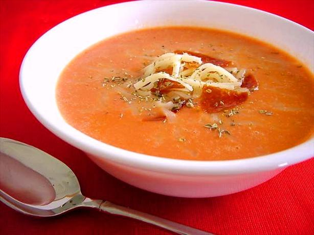 Easy Pizza Soup or Dressed-Up Tomato Soup