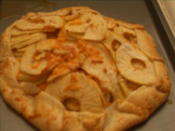 Cheddar-Apple Galette