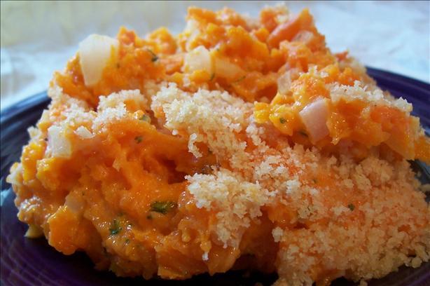 Cheesy Mashed Carrots