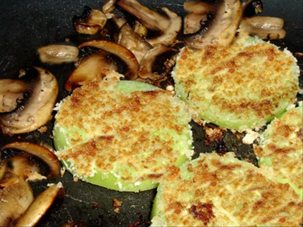 Panko Fried Green Tomatoes and Mushrooms