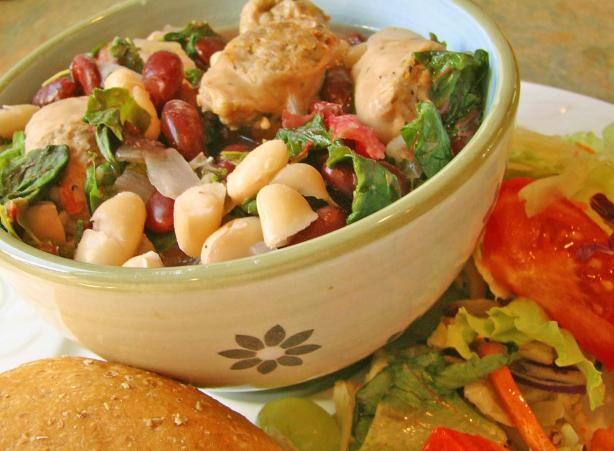 Sausage, Beans, and Greens