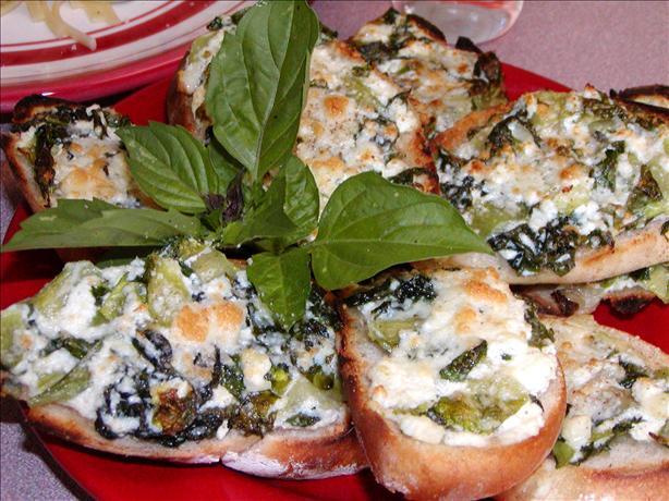Spinach and Ricotta Bruschetta