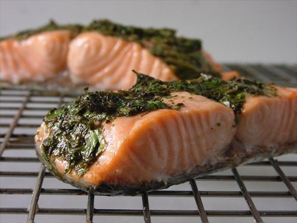 Salmon With Olive Oil & Herbs