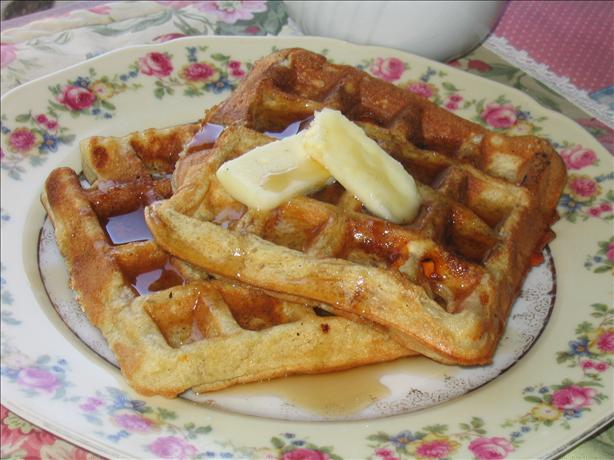 Butterscotch Banana Bread Waffles