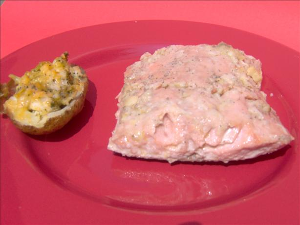 Salmon With Roasted Garlic