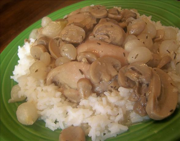 Crock Pot Coq Au Vin (Chicken in White Wine)