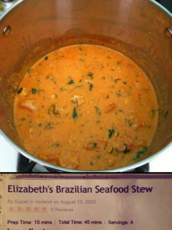 Elizabeth's Brazilian Seafood Stew