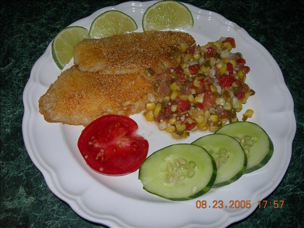 Kim's Tilapia With Maque Choux