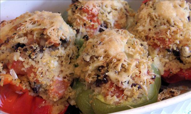 Mediterranean Stuffed Bell Peppers