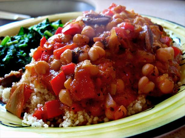 Chickpea Marinara over Couscous