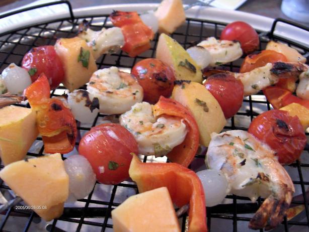 Shrimp, Cantaloupe Kabobs
