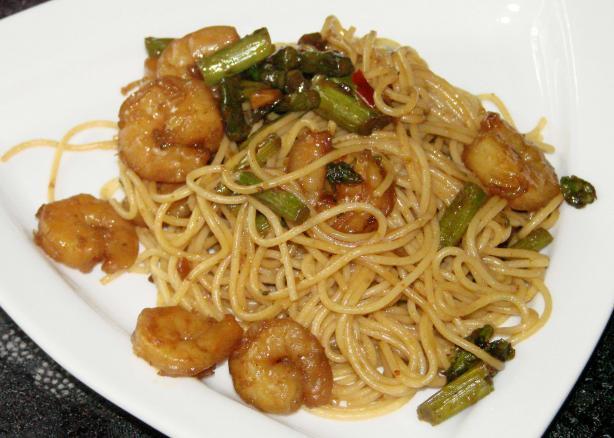 Asparagus & Shrimp Noodles