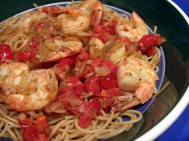 Tiger Shrimp With Pasta