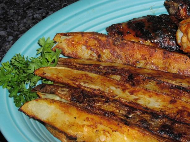 Grilled Buffalo Potato Wedges