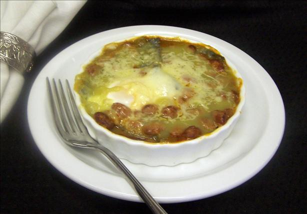 Huevos Rancheros in Tomatillo Ranchero Sauce