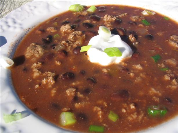 Beefed-Up Black Bean Soup